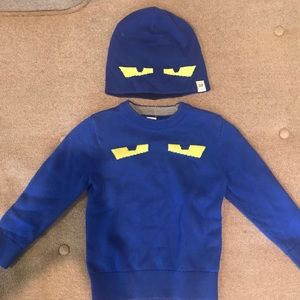 Gap sweater with matching reversible hat
